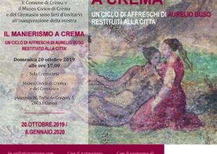 """Miniatura per l'articolo intitolato:Si inaugura """"Il manierismo a Crema""""!"""